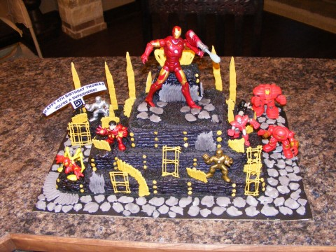 Flowers At Our Feet Iron Man Cake Instructions